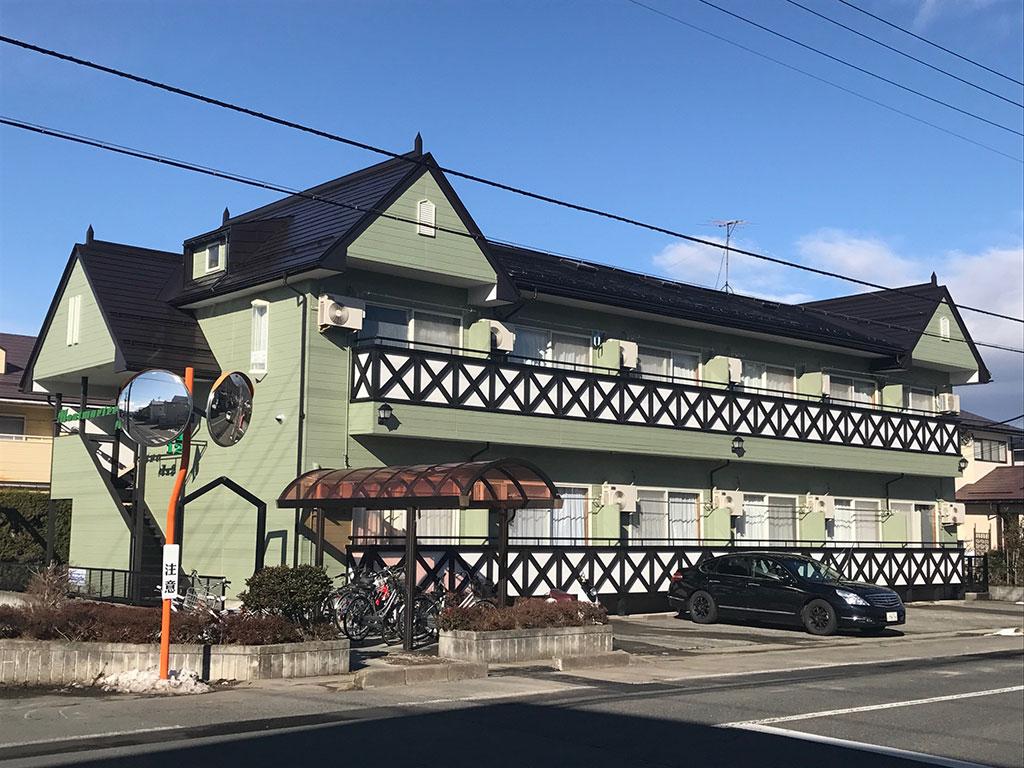 山形市アパート塗装工事1