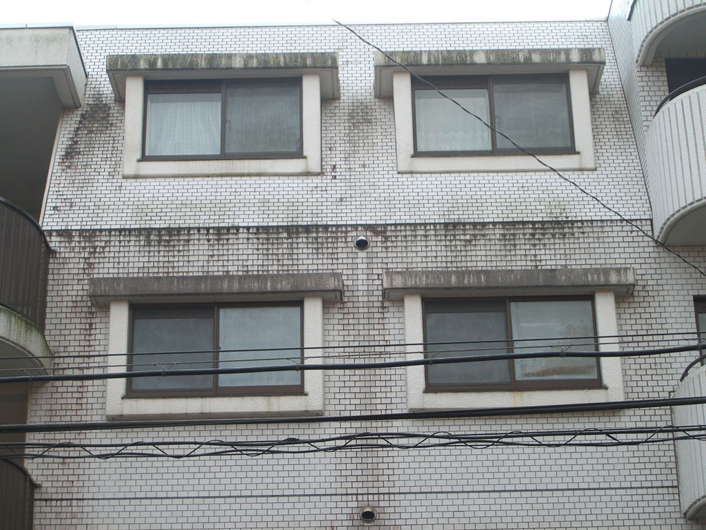 宮城県仙台市 マンション外壁タイルバイオ洗浄工事(高圧洗浄)